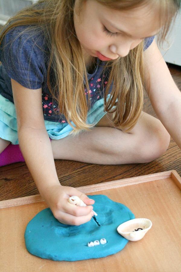 Handwriting Practice on Play Dough