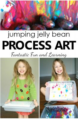 Jumping Jelly Bean Easter Process Art Project for Preschoolers