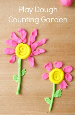Play Dough Counting Garden