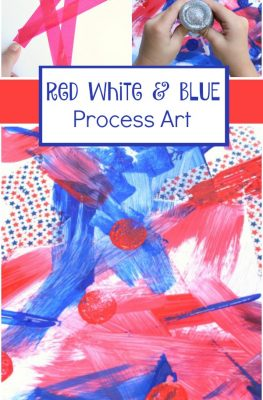 Red White and Blue Process Art-Preschool and Toddler Art Activity for the Fourth of July and Other Patriotic Holidays
