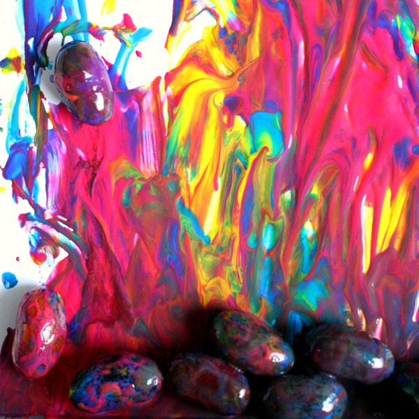 Square-Jumping Jelly Bean Painting
