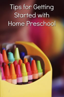 Tips for Getting Started with Home Preschool