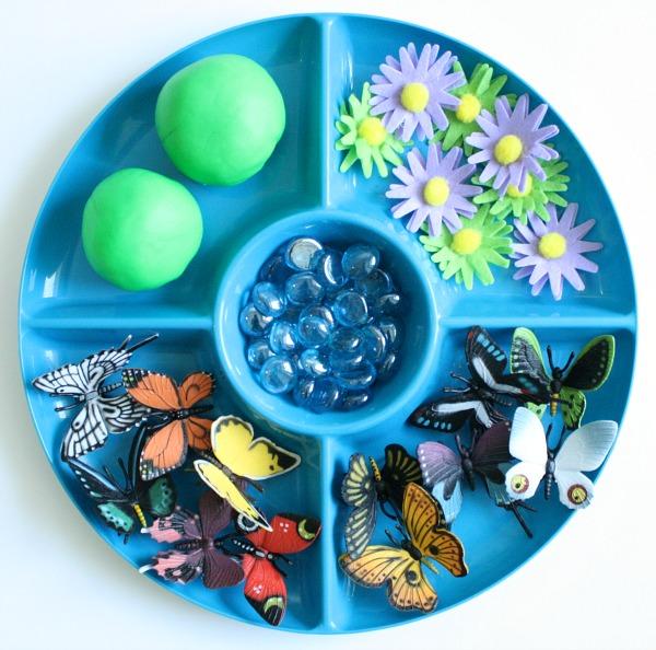 Butterfly Garden Play Dough Materials
