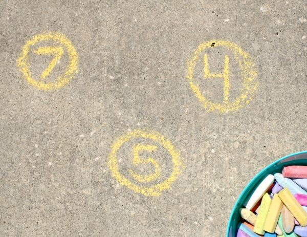 Chalk Counting Garden Invitation
