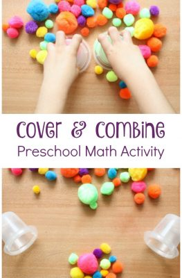 Cover & Combine Preschool Math Activity-Practice counting and beginning addition