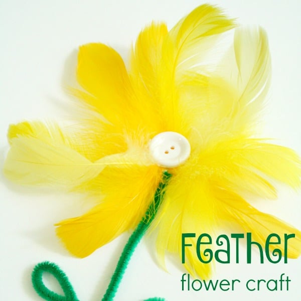 Feather Flower Craft