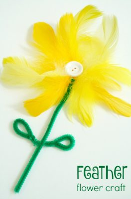 Feather Flower Craft
