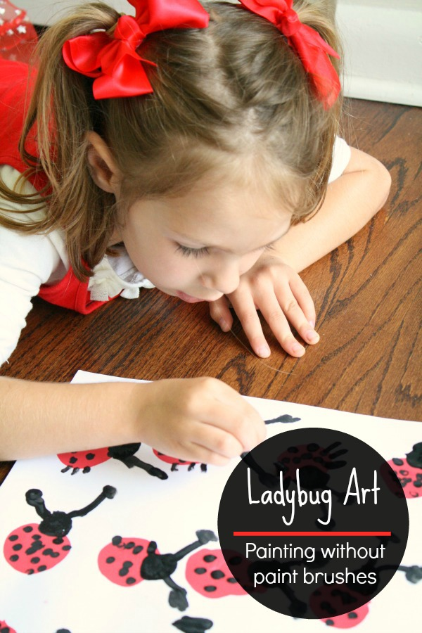 Ladybug Art -Fun Spring Activity for Kids. Painting without paint brushes