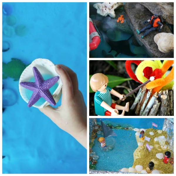 Ocean Pretend Play Summer Small World Play for Kids