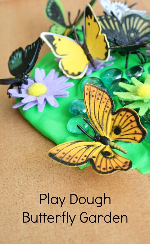 Play Dough Butterfly Garden Preschool Activity for Spring