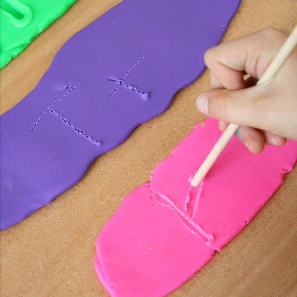 Play Dough Writing Fine Motor Activity