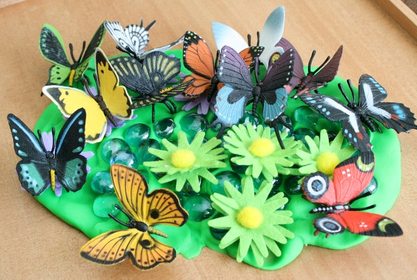 Playdough Butterfly Garden