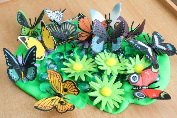 Playdough Butterfly Garden