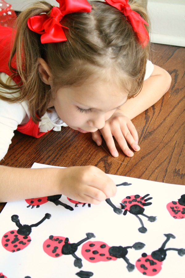 Spring Activity for Kids-Ladybug art