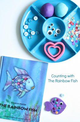 Rainbow Fish Counting Play Dough