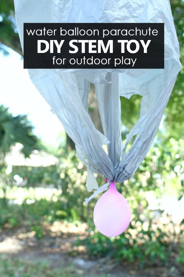 How to make a water balloon parachute DIY STEM toy for kids outdoor play