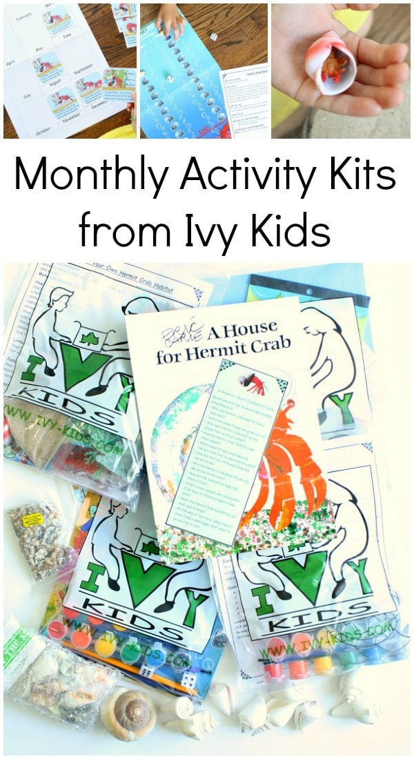 Monthly Activity Kits from Ivy Kids-These book-inspired subscription boxes are full of learning activities for kids ages 3-8