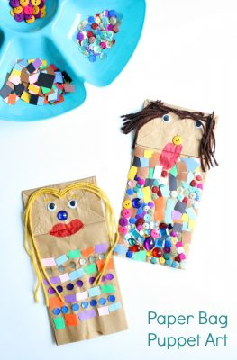 Paper Bag Puppet Art for Preschoolers