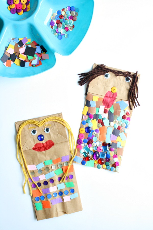 Paper Bag Puppet Creative Art Invitation for Kids