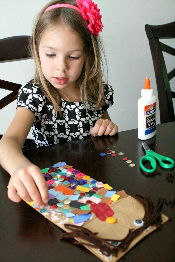 Preschool Art-Paper Bag Puppets