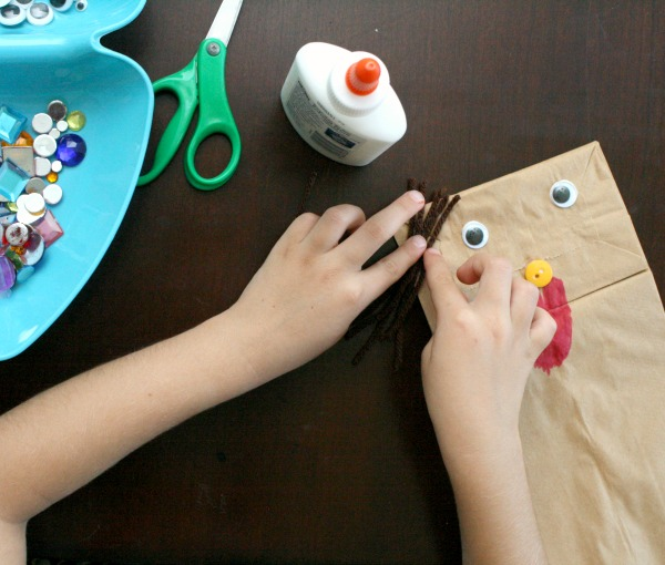 Preschool Paper Bag Puppet Craft
