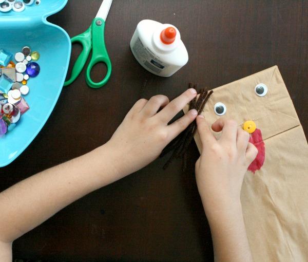 Preschool Paper Bag Puppet Craft