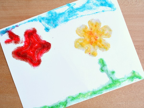 Preschool Scratch and Sniff Art-Use stencils for scented art