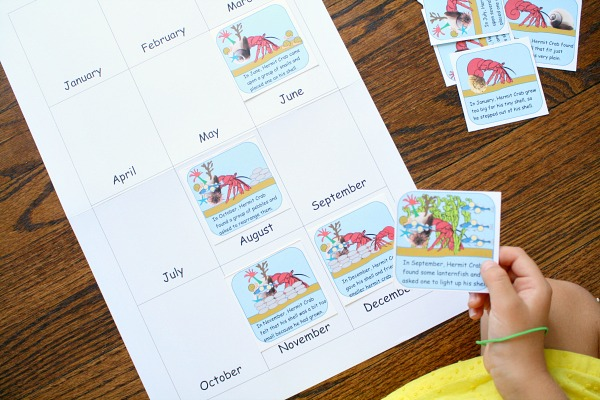 Retelling Cards for A House for Hermit Crab
