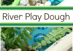 River Play Dough Invitation