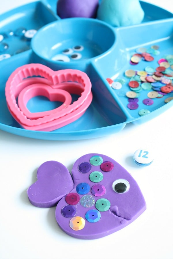 Summer Counting Activity-Rainbow Fish Play Dough