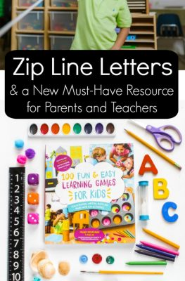 Zip Line Letters & a New Must-Have Resources for Parents and Teachers. This is a go-to reference for hands-on learning games!