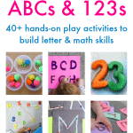 ABCs and 123s Preschool Learning Activities