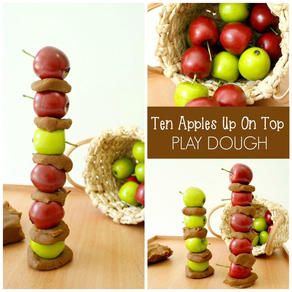 Ten Apples Up on Top Play Dough Activities