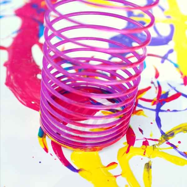 Painting with a slinky