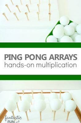 Ping Pong Arrays Hands-On Multiplication Activity for Elementary Kids