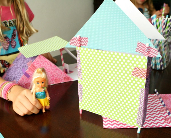 Pretend play with STEAM creations -after school activity