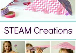 STEAM Creations Challenge with Paper and Staws