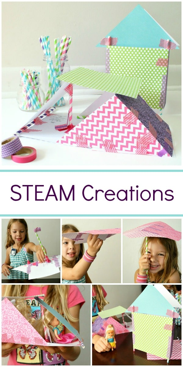 STEAM Creations-The possibilities are endless when you provide kids with open-ended opportunities to create with simple materials