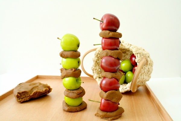 Sorting Apples by Color -Apple Play Dough