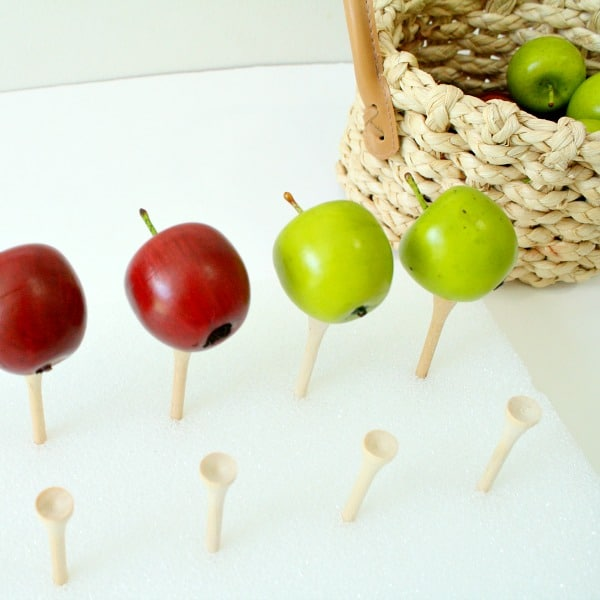 Square-Apple Ten Frame Fine Motor and Math Play