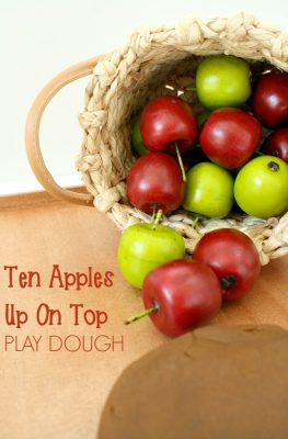Ten Apples Up on Top Play Dough
