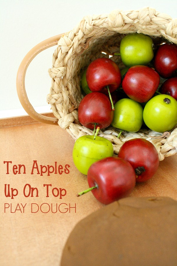 Ten Apples Up on Top Play Dough Invitation