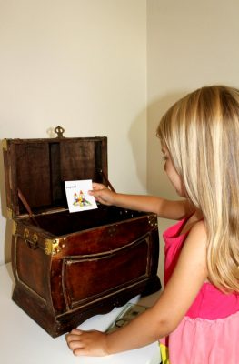 Reward kids for positive behavior with a treasure box incentive plan at home. Includes free printable choice cards.
