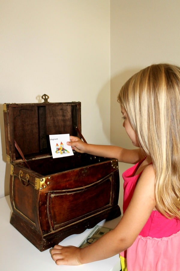 Reward kids for positive behavior with a treasure box incentive plan at home.