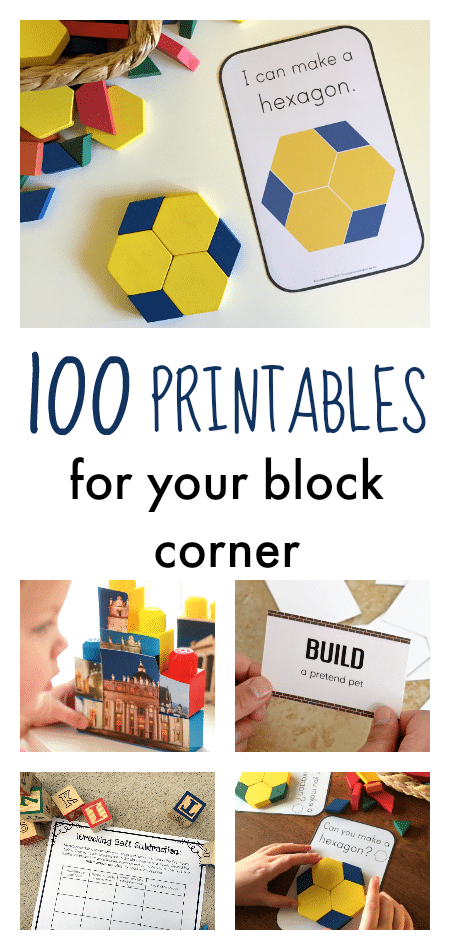 100 printables for block corner
