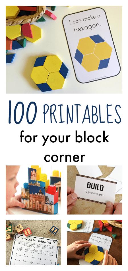 100 printables for block corner