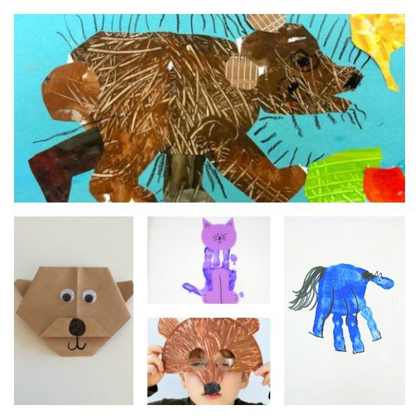 Brown Bear, Brown Bear Art Activities