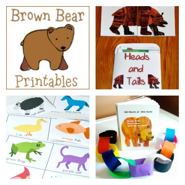 Brown Bear, Brown Bear Literacy Activities