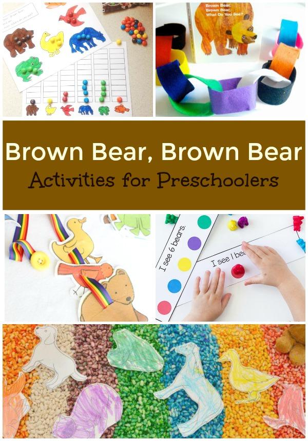 Brown Bear, Brown Bear Activities for Preschoolers