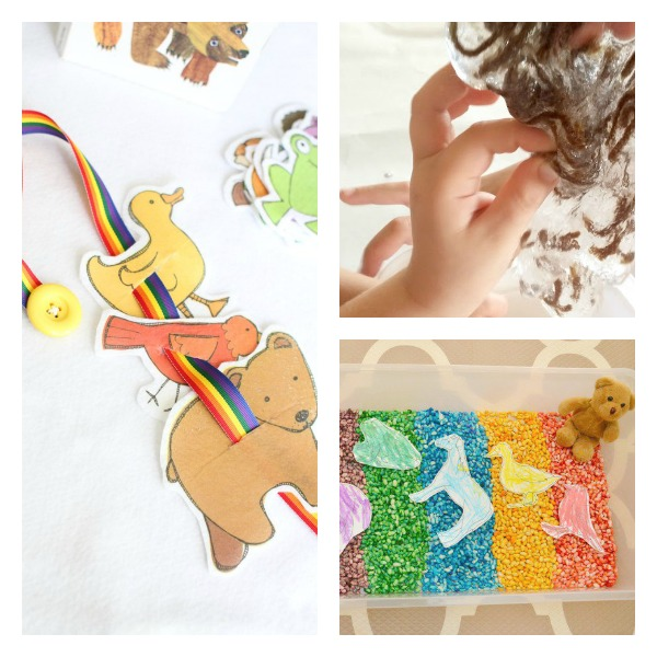 Brown Bear, Brown Bear Sensory and Fine Motor Activities